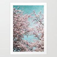 sakura Art Prints featuring Sakura by Iris Lehnhardt
