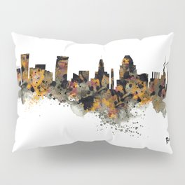 Baltimore Watercolor Skyline Pillow Sham