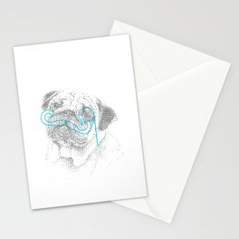 Classy pug Stationery Cards