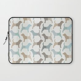 Beagle Silhouettes Pattern - Natural Colors Laptop Sleeve