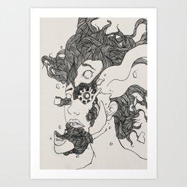Broken into pieces Art Print
