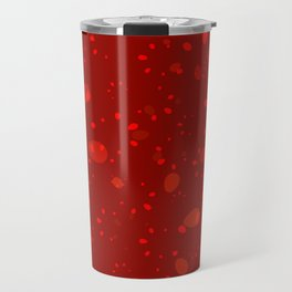 Abstract burgundy colored vector hand drawn floral seamless pattern on a red background. Travel Mug