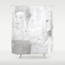 Luke 5 Seconds in Concert Drawing Shower Curtain