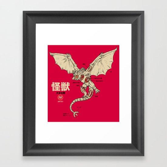 Kaiju Anatomy 2 Framed Art Print
