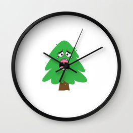 Crying Christmas Tree Wall Clock