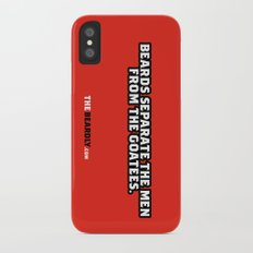BEARDS SEPARATE THE MEN FROM THE GOATEES. Slim Case iPhone X
