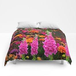 DECORATIVE SPRING FLOWERS GARDEN ART Comforters