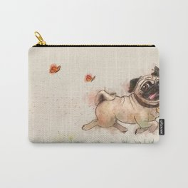 The Furminator pug watercolor like art Carry-All Pouch