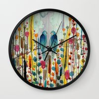 andreas preis Wall Clocks featuring we by sylvie demers
