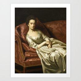 John Singleton Copley - Portrait of a Lady Art Print