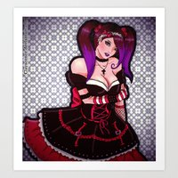 eugenia loli Art Prints featuring Loli loli by clayscence