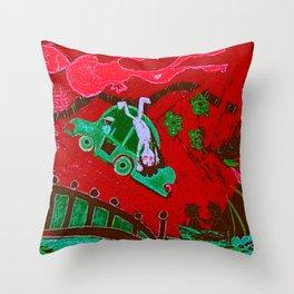 LSD in Red Throw Pillow