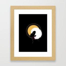 Afro Queen Framed Art Print