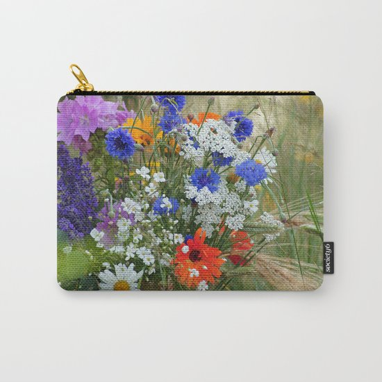 Wildflowers in a summer meadow Carry-All Pouch