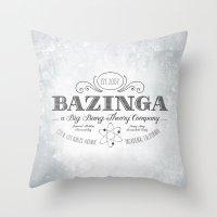 bazinga Throw Pillows featuring Bazinga Vintage by Nxolab