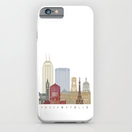 Indianapolis skyline poster iPhone Case