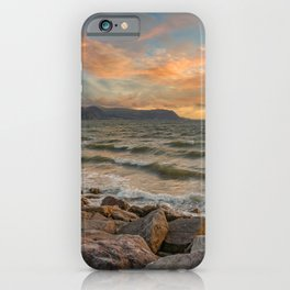 Sunset at West Shore Llandudno iPhone Case