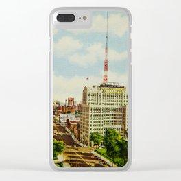 Detroit Dreams Clear iPhone Case
