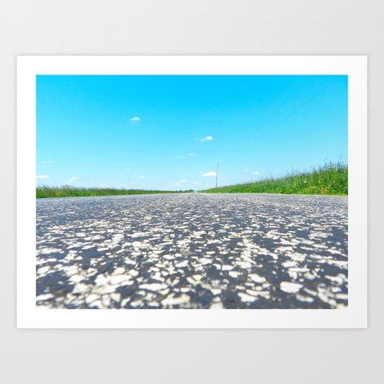 Blue Sky, Back Road Art Print