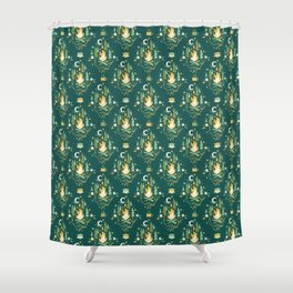 S'More Campfires (Evergreen) Shower Curtain