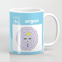 periodic table Mugs featuring Periodic Table of Cute Elements -- Argon by Grace T