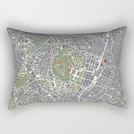 Tokyo city map engraving Rectangular Pillow