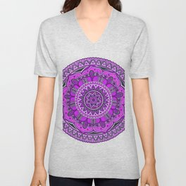 Mandala Art Unisex V-Neck