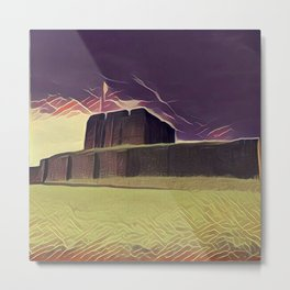 A Storm Over Carlisle Castle Metal Print