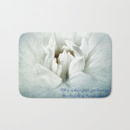 Snow -White Flower Bath Mat