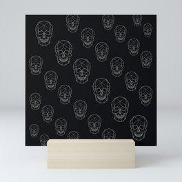 Skull Aesthetics Pattern Mini Art Print
