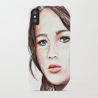 katniss iPhone & iPod Cases featuring Katniss. by Annie Mae Herring