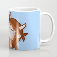 taurus Mugs featuring Taurus by Chiara Zava