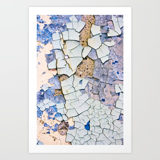 Textured peeling paint  Art Print