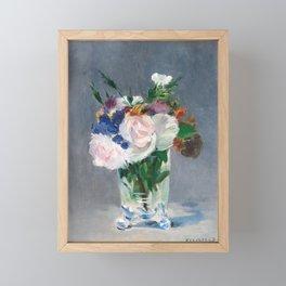 Edouard Manet - Flowers in a Crystal Vase Framed Mini Art Print