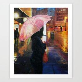 Rainy SF Art Print