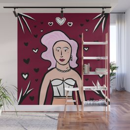 Glamazon Girl: Raven Wall Mural