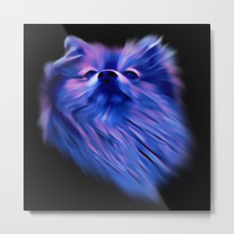 Purple Pomeranian Metal Print