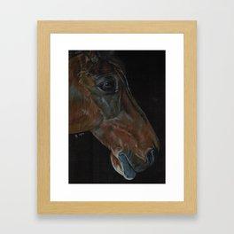 Hanoverian in Black Framed Art Print