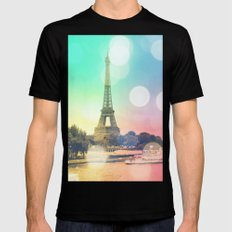 Paris. MEDIUM Mens Fitted Tee Black