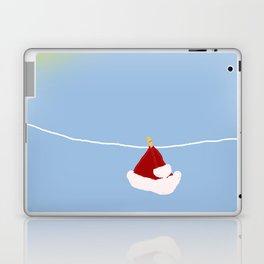 santa hat on clothesline Laptop & iPad Skin