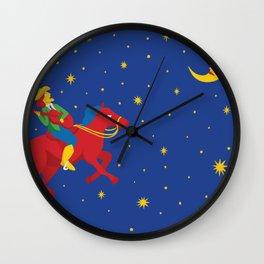 Cosmic Cowgirl Wall Clock
