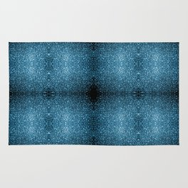 Beautiful Baby blue glitter sparkles Rug