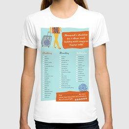 Planepack packing checklist T-shirt