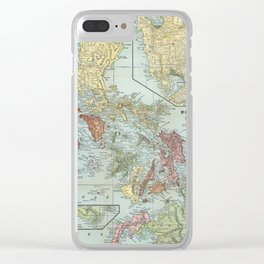 Vintage Map of The Philippines (1898) Clear iPhone Case