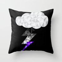 asexual Throw Pillows featuring Asexual Storm Cloud by Casira Copes