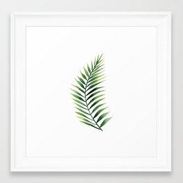 Palm Leaves. Framed Art Print