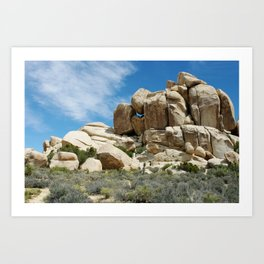 Joshua Tree Rock Palace Art Print
