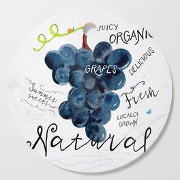 Watercolor grapes Cutting Board