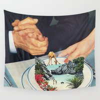eugenia loli Wall Tapestries featuring Bermuda a'la Soup by Eugenia Loli