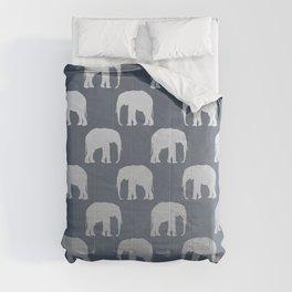 Blue & Silver Elephants  Comforters